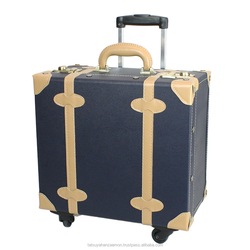 traveling case leather genuine luggage and cases vintage carry bag travel suitcase vintage trolley