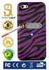 Purple Zebra case for iPhone 4/4S with ecological cigarette lighter