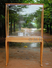 Wooden Display Cabinet for model ship display case with leg beach timber color