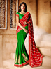 Bandhani Red Georgette Indian Saree