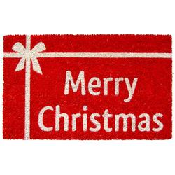 merry christmas home decor coir mats with nature coir use in home entrance