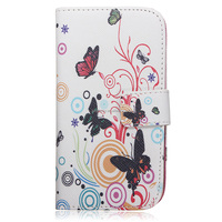 Newe Elegant Flower Flip Leather Card Wallet Luxury Case Cover Stand For Samsung Galaxy S4 IV i9500 Good Quality Protector
