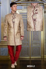 Gold & Red Wedding Sherwani Designs for Men
