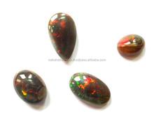 AA Quality Natural Black Ethiopian Opal Far Size Mix Shape Cabochon Loose Gemstone