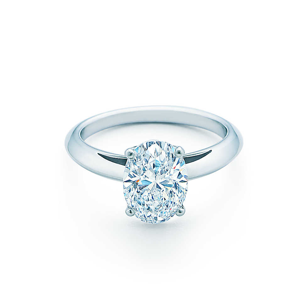2 Carat Oval Cut Classic Solitaire Engagement Ring Silver Jewelry Man Made Di