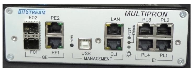 Telecommunication Tester BitStream Multipron, E1, Gigabit Ethernet