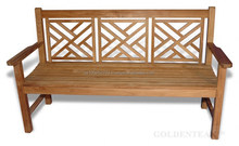TEAK SOLID WOOD GARDEN BENCHES.