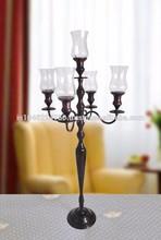 Cinco de aluminio de los candelabros / 5 candelabros luz