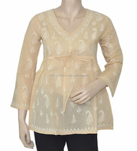 New Arrival 2015 Lucknowi Traditional Chikan Kurti
