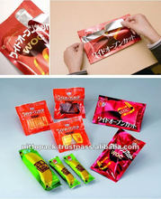 Safe and Convenient plastic packaging food bags for industrial use , custom made available