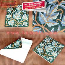 Green Valley - indio bordado a mano cubren Coushion de la cubierta grande - de gran tamaño de la almohadilla cubierta