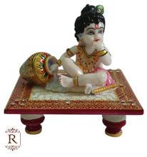 Dios Krishna Laddu Gopal hechos a mano estatua de mármol del arte y artesanía galería India hindú ídolos religiosa