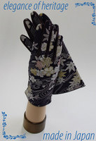 Graceful and luxury Kyoto Kimono gloves with premium fabric made in Japan