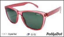 Ideal Polarized Polka Dot Crystal Red Sunglass