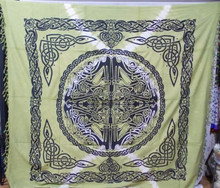 celtic mandala tapestry, celtic knot wall hanging, bedsheet, throw, king bedcovers, beach throw