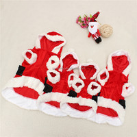 New Arrival High Quality Pet Puppy Dog Christmas Clothes Santa Claus Costume Outwear Coat Hoodie Outfit