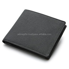 Business Casual Leather Mens Money Clip Wallet / Black Genuine Leather Mens Leather Money Clip Wallet