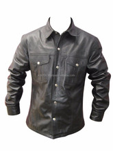Full sleeve New design for mens formal leather tag pocket check style man shirt