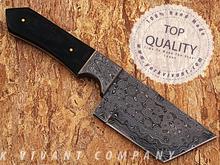 Hunting Knife-Custom Handmade Fixed Blade Skinner/Hunting Knife YV-AB65A Buffalo Horn + Mosaic Pin + Damascus Steel Handle