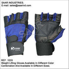 Bodybuilding Gloves in black goat Leather beautiful designs available at competitive prices