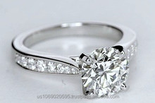 0.25ct Platinum Round Diamond Engagement Ring Setting Cathedral 900,000 GIA EGL certified diamonds