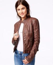 Custom made bomber jacket wholesale woman leather bomber jacket