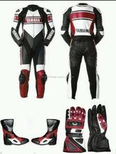 Yamaha moto / moto de carreras zapatos del juego de cuero y guantes