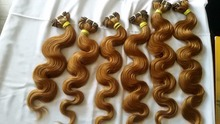 Indian hair remy double drawn hair extension machine weft handmade real virgin hair extension weave