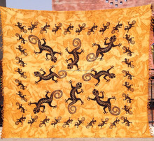 Beautiful Big & Small Lizard bedspread Hippie Wall Hanging
