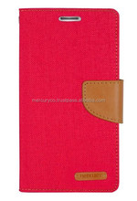 wallet diary mobile phone case Mercury Canvas diary case (Red Camel)