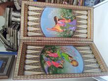 artistic wooden Backgammon