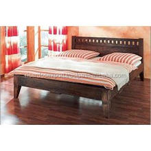 Flat Sover Wooden Double bed designs for appartments Double wooden Bed modern double bed in wooden