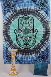 Ombere Indian Mandala Hippie Bohemian Wall Hanging Tapestry Throw Twin Size Bedspread