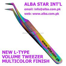 2D, 3D Volume Tweezers/ L Type Multicolor Volume Tweezers/ Colored Volume Tweezers