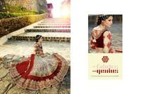 Maroon Ethnic Heavy embroidered Bridal Lengha choli