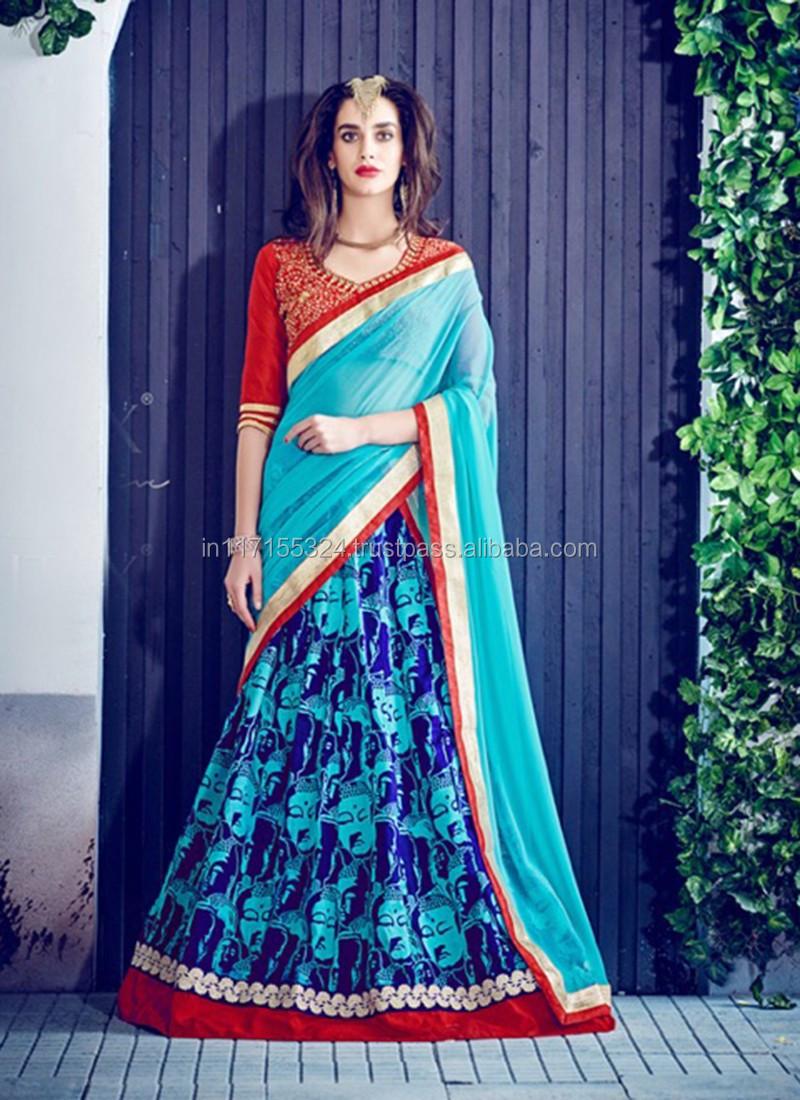 Indian Designer Fashion Latest Lehenga Choli - Fish Cut Bridal ...