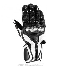 Pure Leather Motorcycle Racing Gloves with protection / Pro Racing Gloves / Motorbike Gloves in South asia