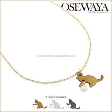 Unique and popular pendant necklace charming cat ornaments