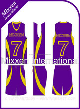 full customized basket ball uniform/ premium quality