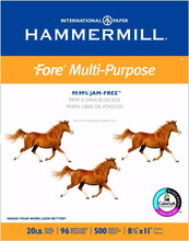 """Hammermill Fore Multipurpose Paper, A4, 8 1/4"""" x 11 3/4"""", 20 Lb, White, Ream Of 500 Sheets"""