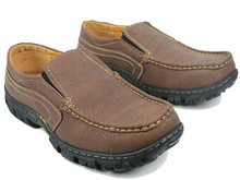 Wholesale Men's Coffee Leather Casual Loafers