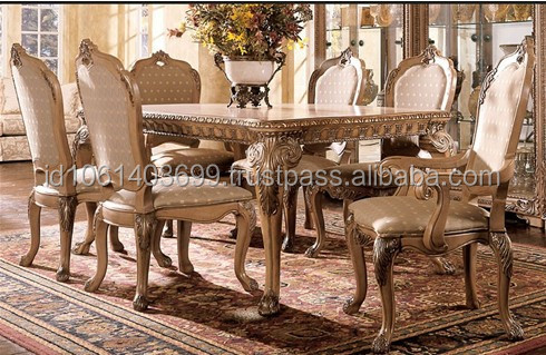 2014 New Design Classic European Style Carved Dining Furniture Dining Table W