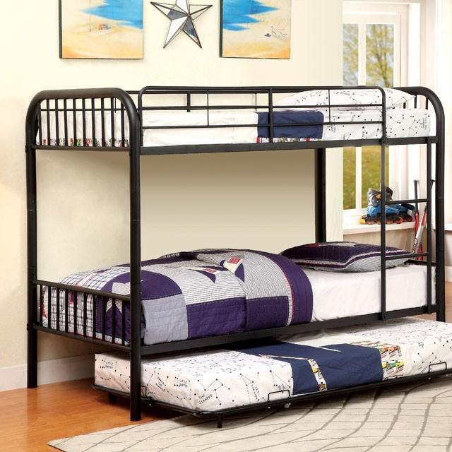 Rainbow Twin Twin Metal Bunk Bed