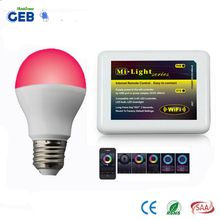 GEB-Smart Series Wifi LED Bulb, Milight wifi 2.4G Remote Controller for Led Light Bulb with Dual CCT & WRGB Changealble