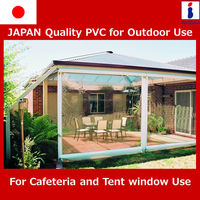 Flexible PVC super clear film with UV inhibitor for outdoor use