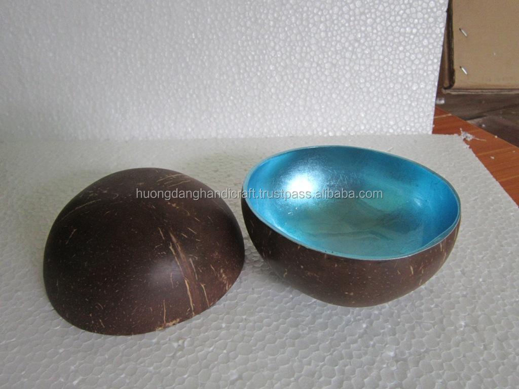 Mentallic blue lacquered bowl fruit bowl coconut