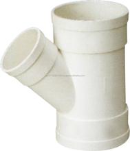 45 DEG REDUCING SKEW TEE ---plastic pvc pipe fitting for WATER DRAINAGE ZAT- TY2759