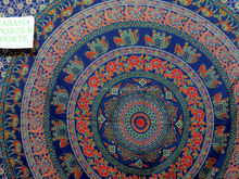 elephant & camel print tapestry floral Bed sheet, Twin mandala throw Mandala Round Cotton Tapestry Indian
