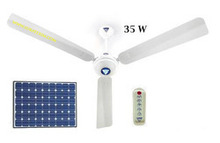 Solar Ceiling Fan With Remote Control