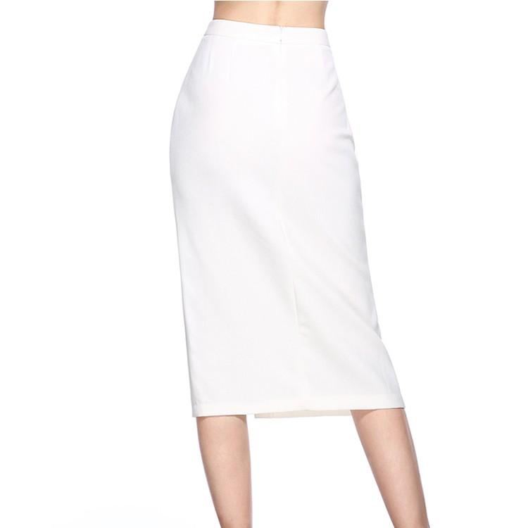 custom women latest high split long pencil skirt design